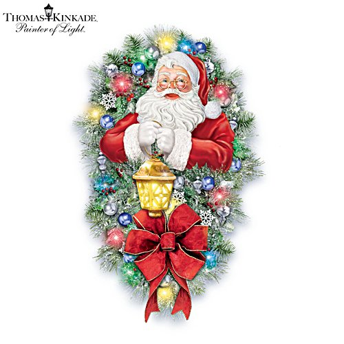 Thomas Kinkade 'A Most Enchanted Christmas' Illuminated Wreath