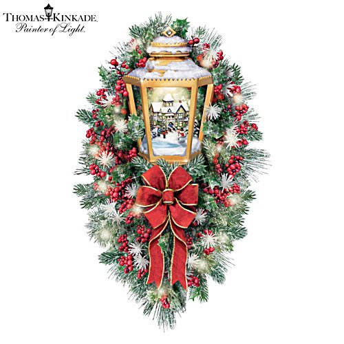 Thomas Kinkade 'A Happy Homecoming' Wreath