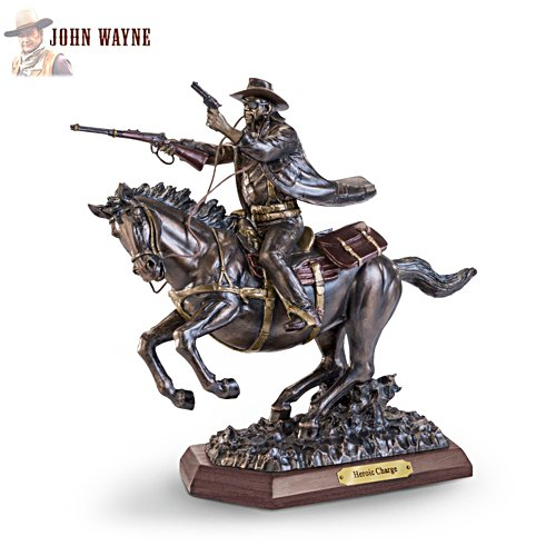 'John Wayne: Heroic Charge' Cold-Cast Bronze Masterpiece Sculpture