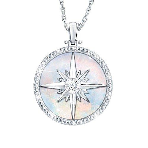 'Always My Daughter' Diamond Compass Rose Pendant