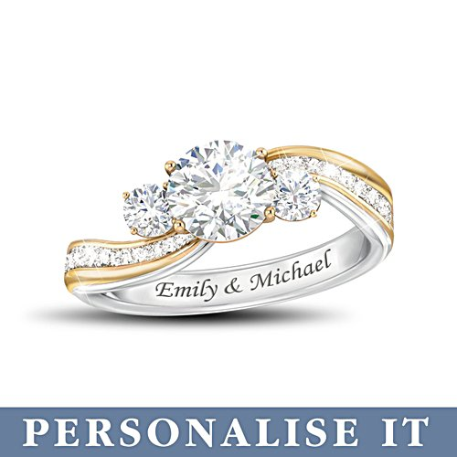 'The Story Of Us' Personalised Diamonesk® Ring