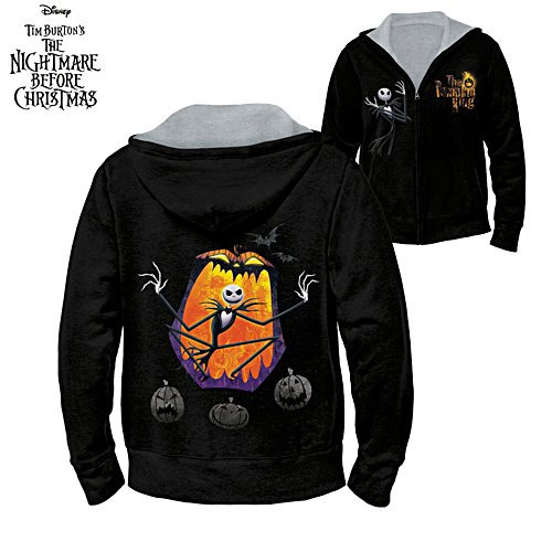 Disney Tim Burton The Nightmare Before Christmas 'Holiday Nightmares' Ladies' Reversible Hoodie
