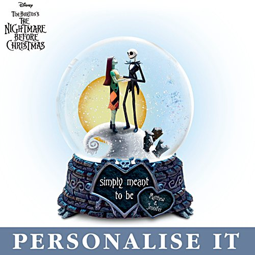 Disney Tim Burton The Nightmare Before Christmas 'Simply Meant To Be' Personalised Snowglobe