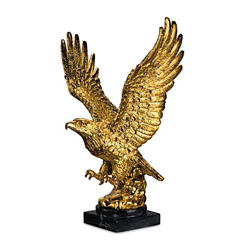 'Triumphant Treasure' Gold-Plated Eagle Sculpture