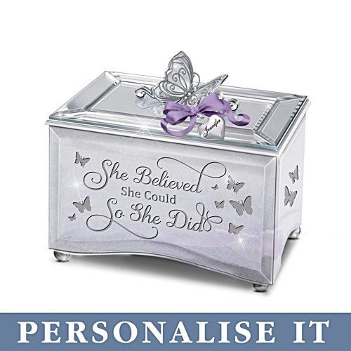 'She Believed She Could So She Did' Personalised Music Box
