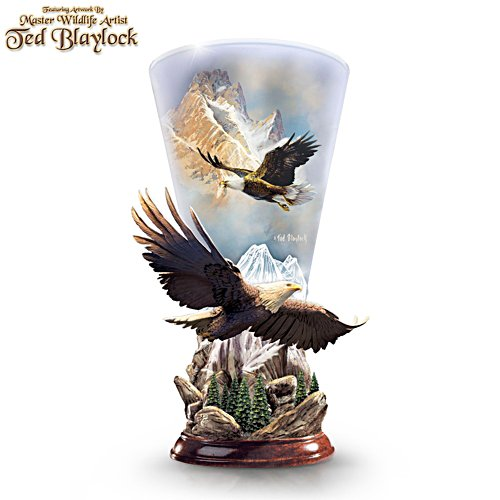 Ted Blaylock 'Mountain Majesty' Eagle Torchiere Lamp