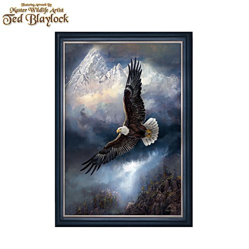 Ted Blaylock 'Force Of Nature' Eagle Illuminated Canvas Print