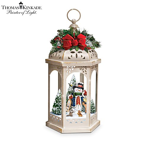Thomas Kinkade 'Winter In A Wonderland' Illuminating Masterpiece Lantern