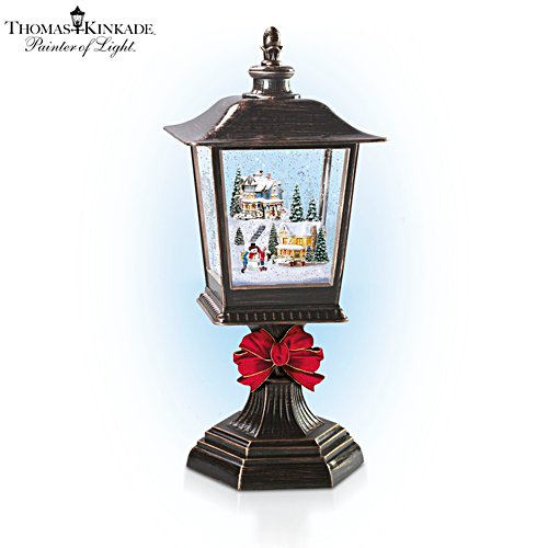 Thomas Kinkade 'Snow Wonderful' Illuminated Snowglobe Lantern