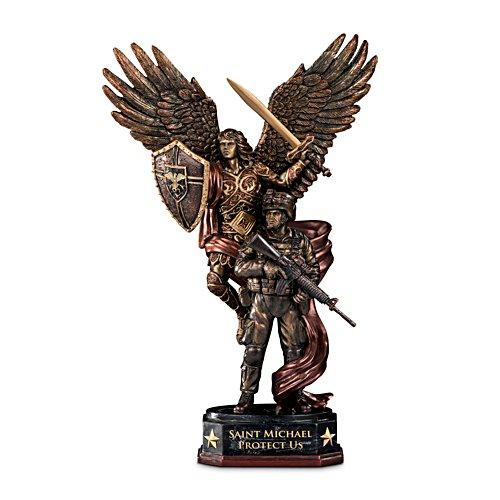 'St. Michael Protect Us' Cold-Cast Bronze Sculpture