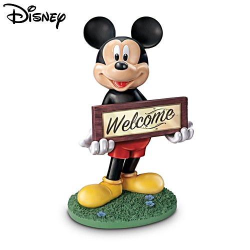 Disney Mickey Mouse Solar-Lit Outdoor Welcome Sign