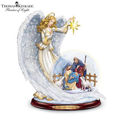 Thomas Kinkade 'Guiding Light' Lit Musical Snowglobe