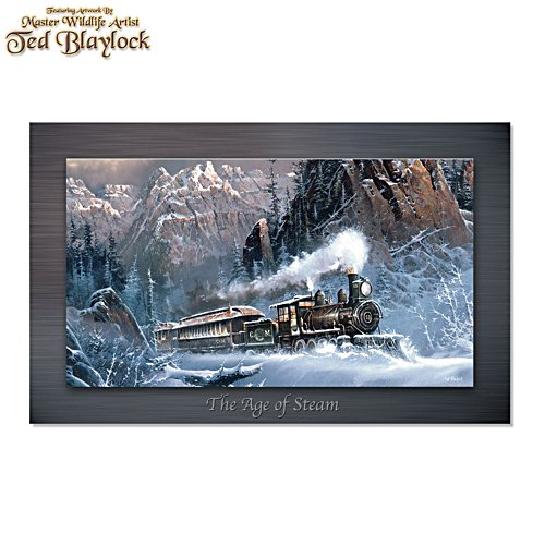 Ted Blaylock 'The Age Of Steam' Metal Print Train Wall Décor