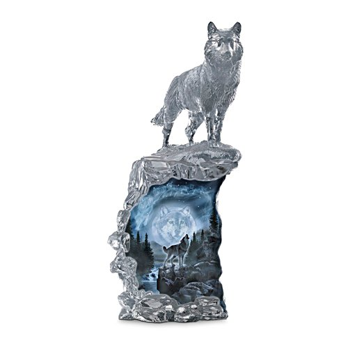Al Agnew 'Soul Of The Night' Illuminated Wolf Sculpture
