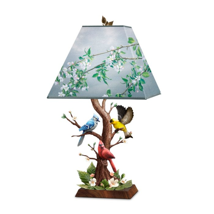 James Hautman 'Joyous Gathering' Sculpted Songbird Lamp