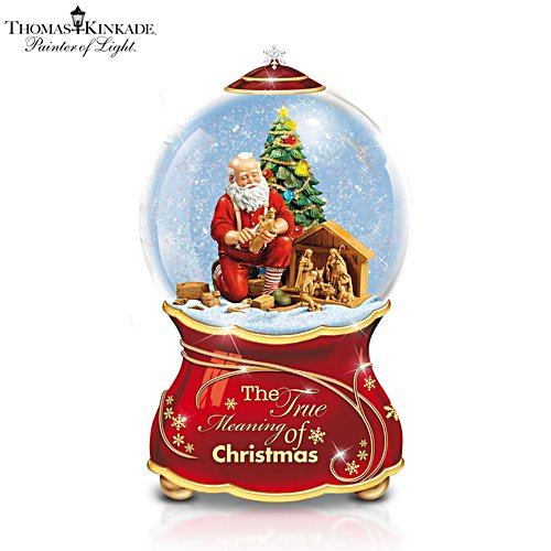 Thomas Kinkade 'The True Meaning Of Christmas' Water Globe