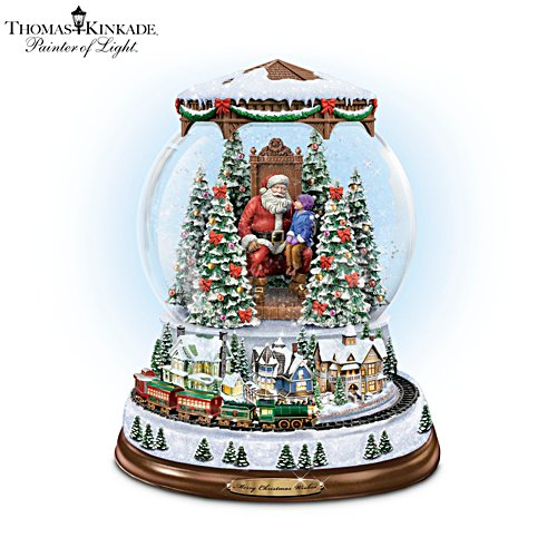 Thomas Kinkade 'A Visit With Santa' Snowglobe