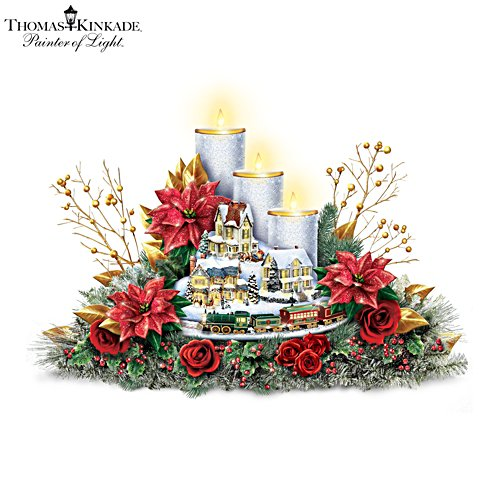 Thomas Kinkade 'Lights Of The Holidays' Table Centrepiece