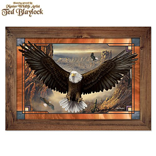 Ted Blaylock 'Wings Of Power' Illuminated Eagle Wall Décor