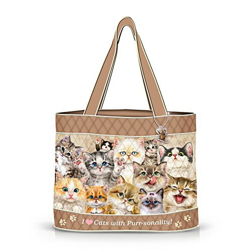 'Cats With Purr-sonality' Tote Bag