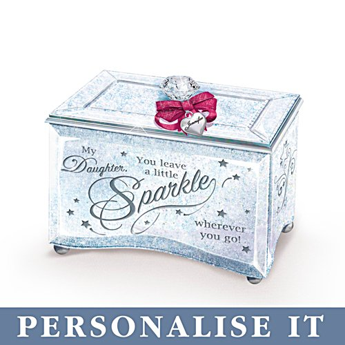 My Daughter, Sparkle And Shine' Personalised Music Box