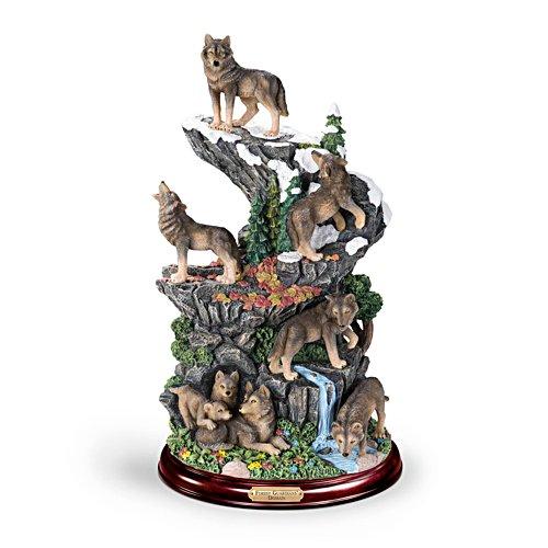 'Forest Guardians' Domain' Wolf Sculpture