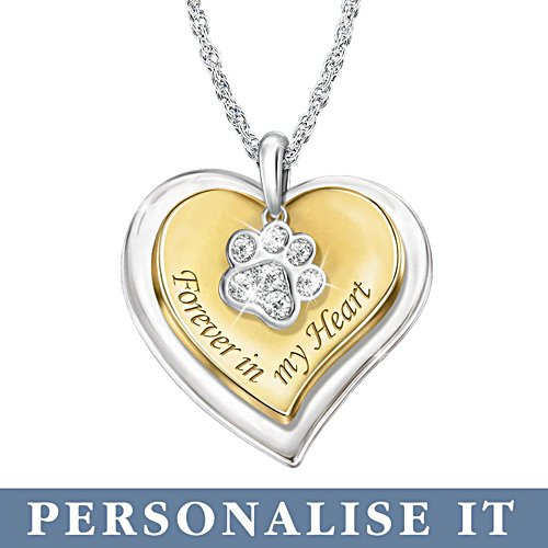 'Forever In My Heart' Personalised Pet Remembrance Pendant