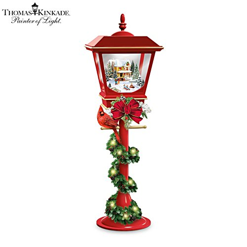Thomas Kinkade 'Making Spirits Bright' Table Centrepiece