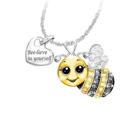 'Always Bee Yourself' Swarovski® Crystal Pendant