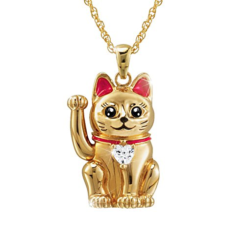 Maneki Neko 'Legend Of The Lucky Cat' Ladies' Pendant