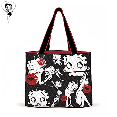 Betty Boop™ 'Sassy Style' Quilted Fabric Tote Bag