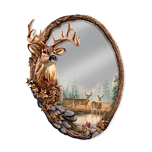 'Reflections Of The Forest' Deer Wall Mirror