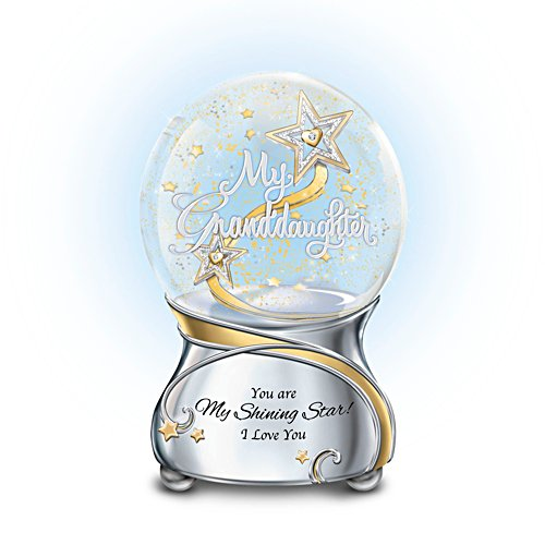 'Granddaughter, You Are My Shining Star' Lit Musical Glitter Globe
