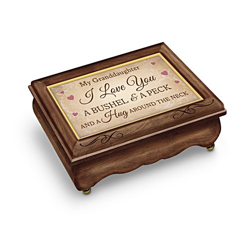 'Granddaughter, I Love You A Bushel And A Peck' Music Box