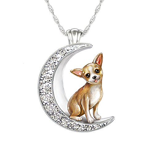 'I Love My Chihuahua To The Moon And Back' Ladies' Pendant