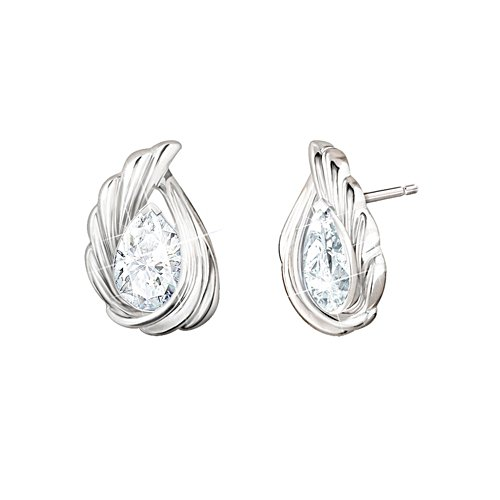 'Heaven's Whisper' Topaz Earrings