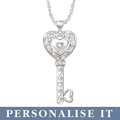 'Believe In Yourself' Granddaughter Personalised Diamond Pendant