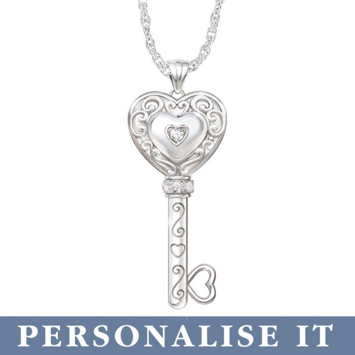 'Believe In Yourself' Personalised Diamond Pendant
