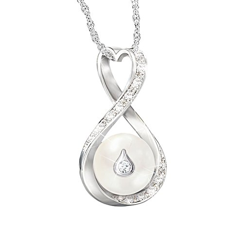 'Forever Love' Cultured Pearl And Diamond Pendant