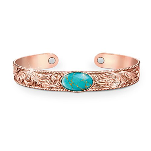 'Strength Of Nature' Turquoise & Copper Healing Cuff Bracelet