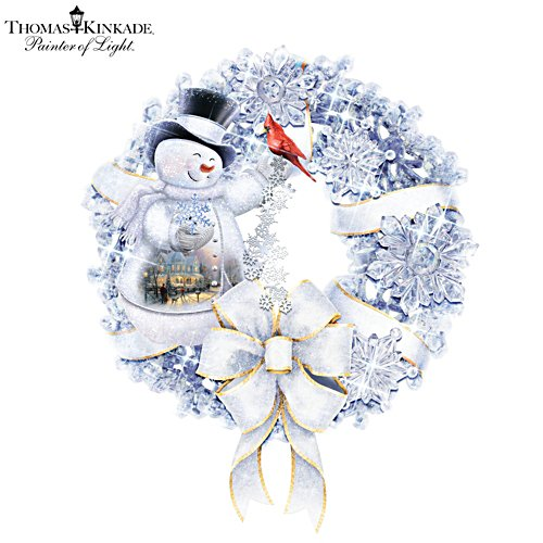Thomas Kinkade 'Winter Wonderland' Illuminated Wreath