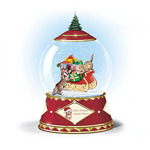 Jürgen Scholz 'Here Comes Santa Claws' Musical Snowglobe