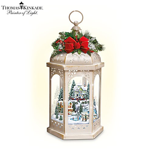 Thomas Kinkade 'Winter Wonderful' Revolving Light Lantern