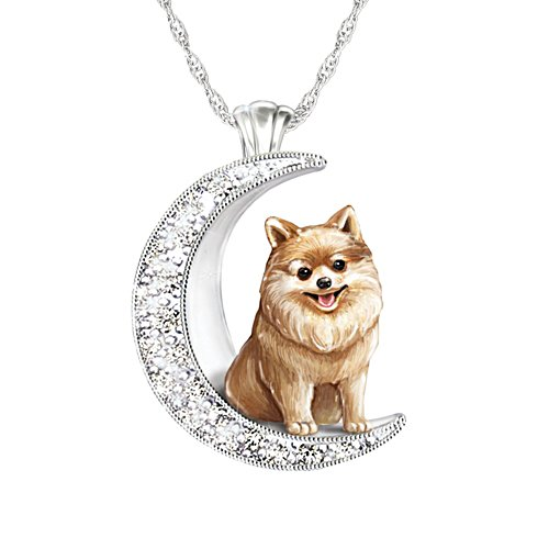 'I Love My Pomeranian To The Moon And Back' Ladies' Pendant