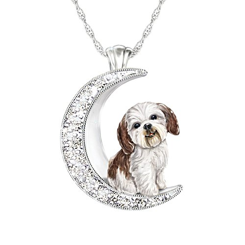 'I Love My Shih Tzu To The Moon And Back' Ladies' Pendant
