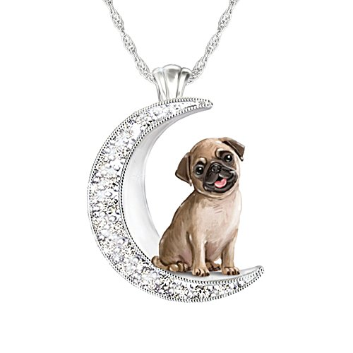 'I Love My Pug To The Moon And Back' Ladies' Pendant