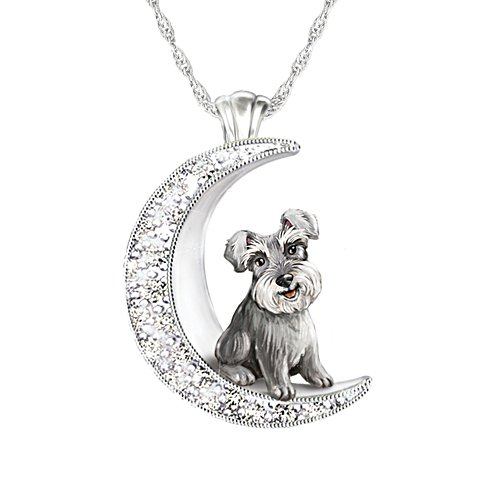 'I Love My Schnauzer To The Moon And Back' Ladies' Pendant