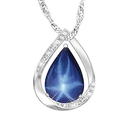 'Heavenly Light' Created Star Sapphire Pendant