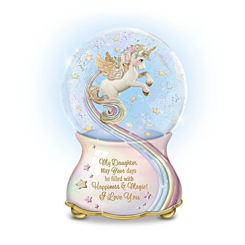 'My Daughter, You Are Magical' Musical Glitter Globe