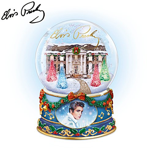 'Merry Christmas From Graceland' Illuminated Musical Glitter Globe